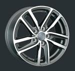 Replica VW161 7x16 5*112 et50 d57,1 серый с полированными спицами   Монтажный комплекс-600 р.