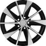 Replica VW90 RPLC 6x15 5*100 et40 d57,1 черный с полированными спицами  Монтажный комплекс-500 р.